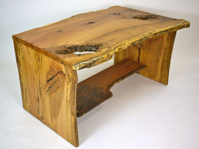 small organic oak desk