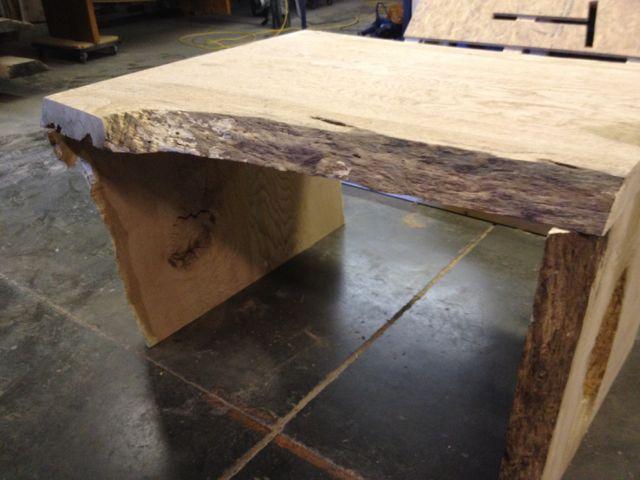 heavy organic oak desk
