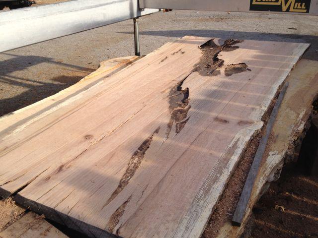 planing oak slabs this week