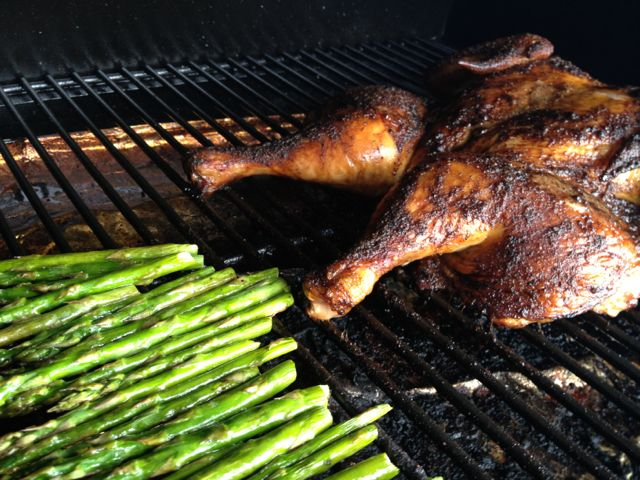 smoked chicken & asparagus