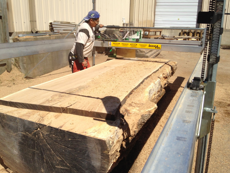 planing oak slabs