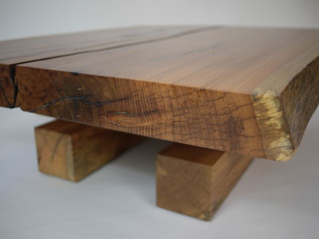 low oak coffee table