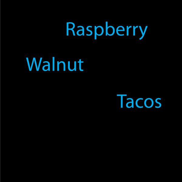 raspberry walnut tacos recipe