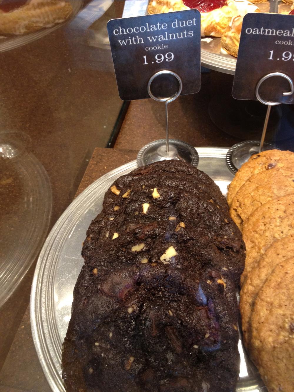 Panera Bread's Chocolate Walnut Duet Cookie
