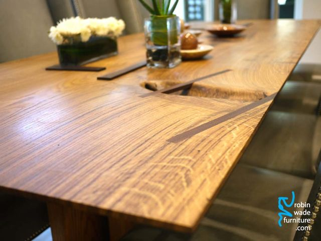 Natural minimal dining table
