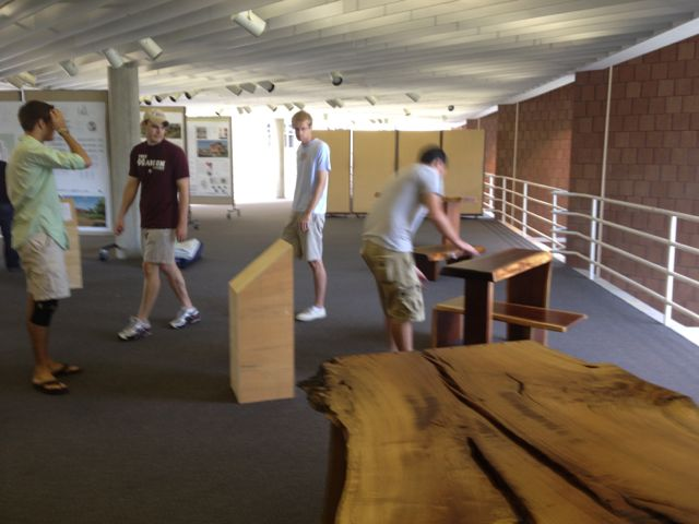 Mississippi State University School of architecture setup for a showing that begins Thursday.