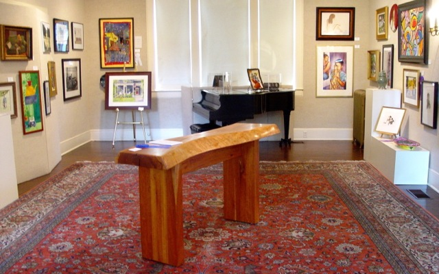 Hand-crafted console won the blue ribbon at Juried art competition
