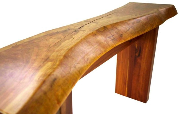 Hand-crafted solid cherry console