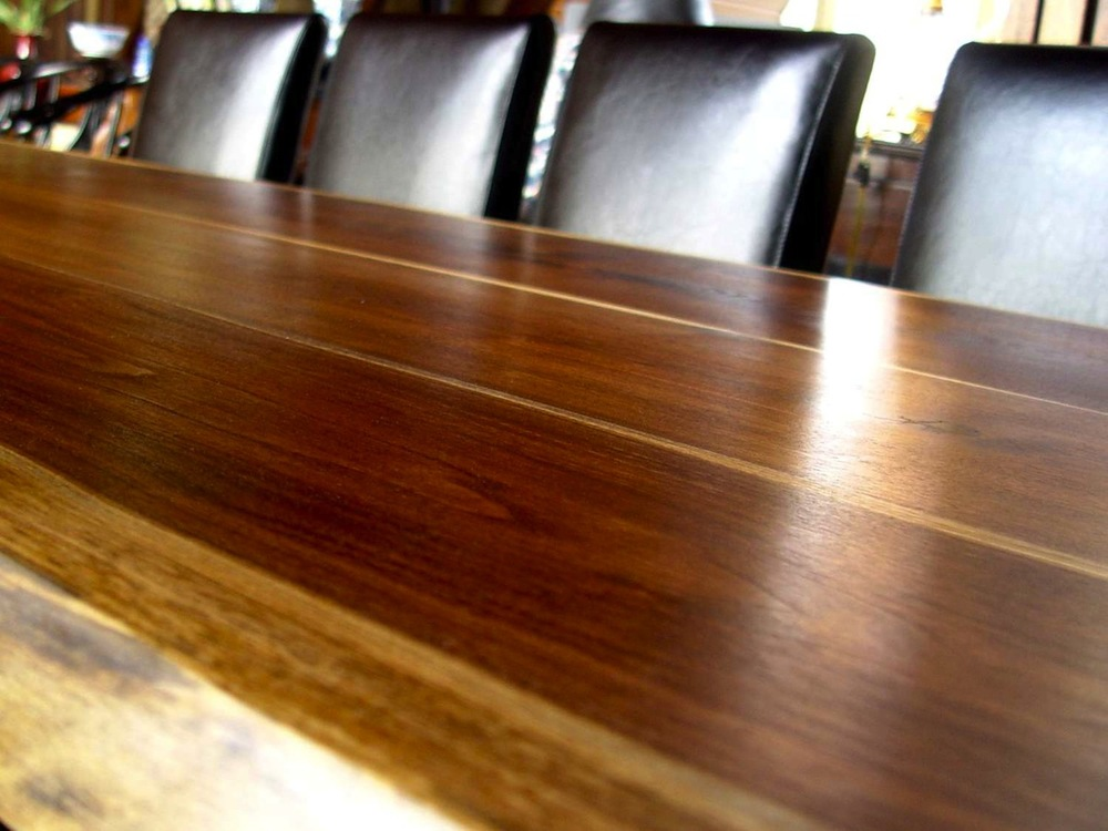 Shipper solid walnut dining table.