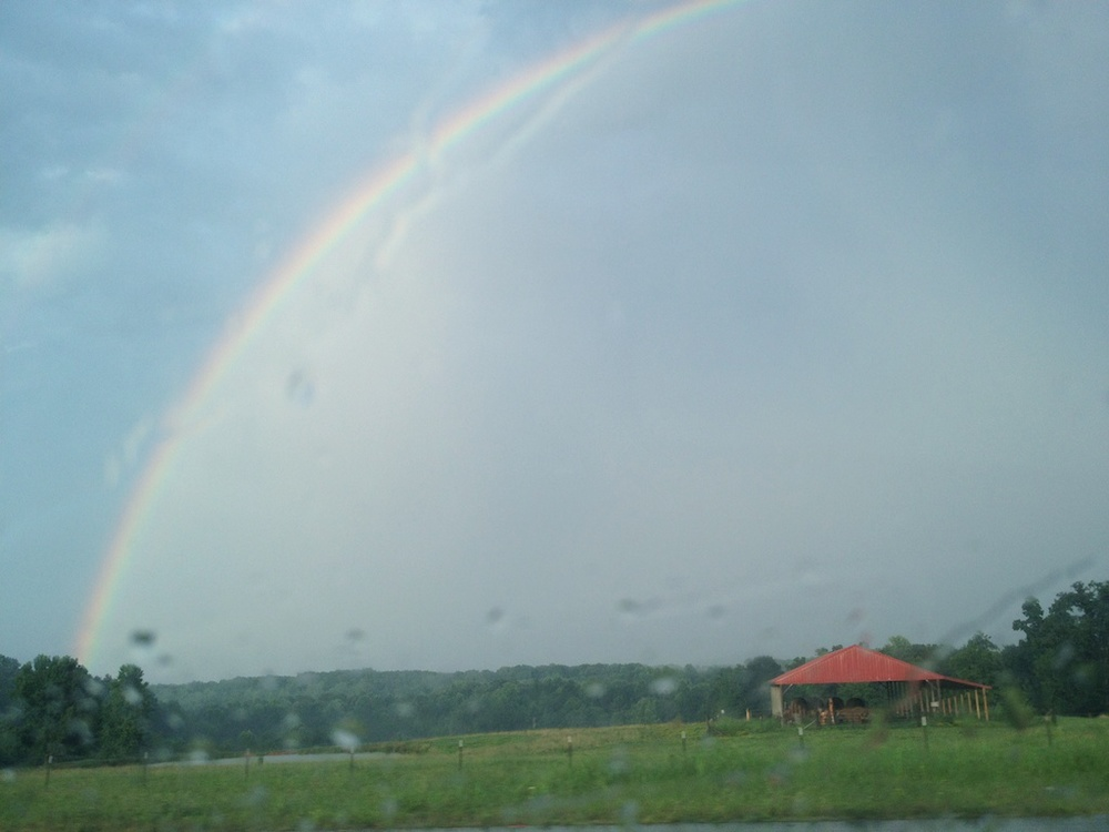 Welcoming rainbow on drive home yesterday