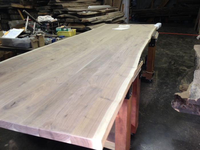 "12' 6"" walnut conference table"