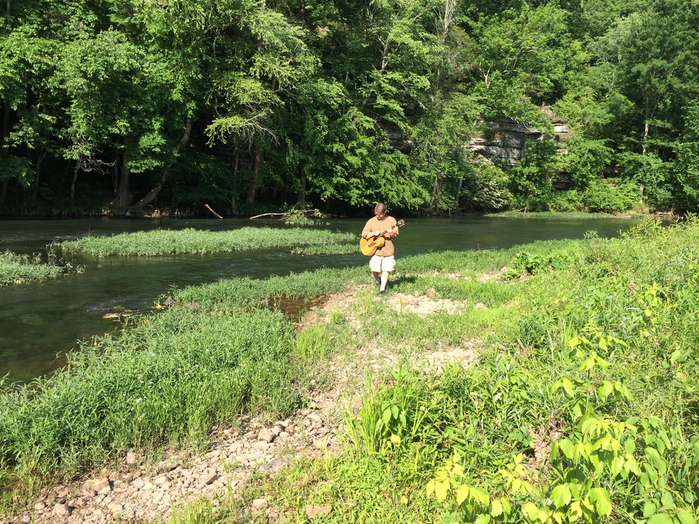 Sunday afternoon was perfect for testing the acoustics of the creek.  We were hoping to be able to provide the acoustic entertainment with no electric.  Although it sounded pretty darn good, with much wading or splashing we may have to plug up just a bit in July.