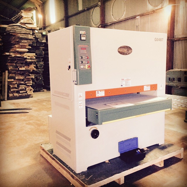 "The newest member of our team;  a 51"" double head sander."