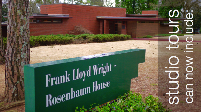 tours can include muscle shoals music & the Frank Lloyd Rosenbaum House