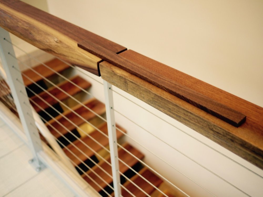 Custom Solid Walnut Stair Treads