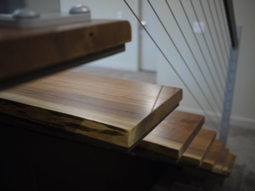 Etonnant Custom Solid Walnut Stair Treads