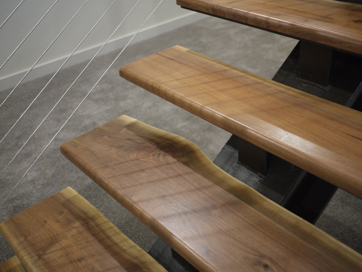 Custom Solid Walnut Stair Treads