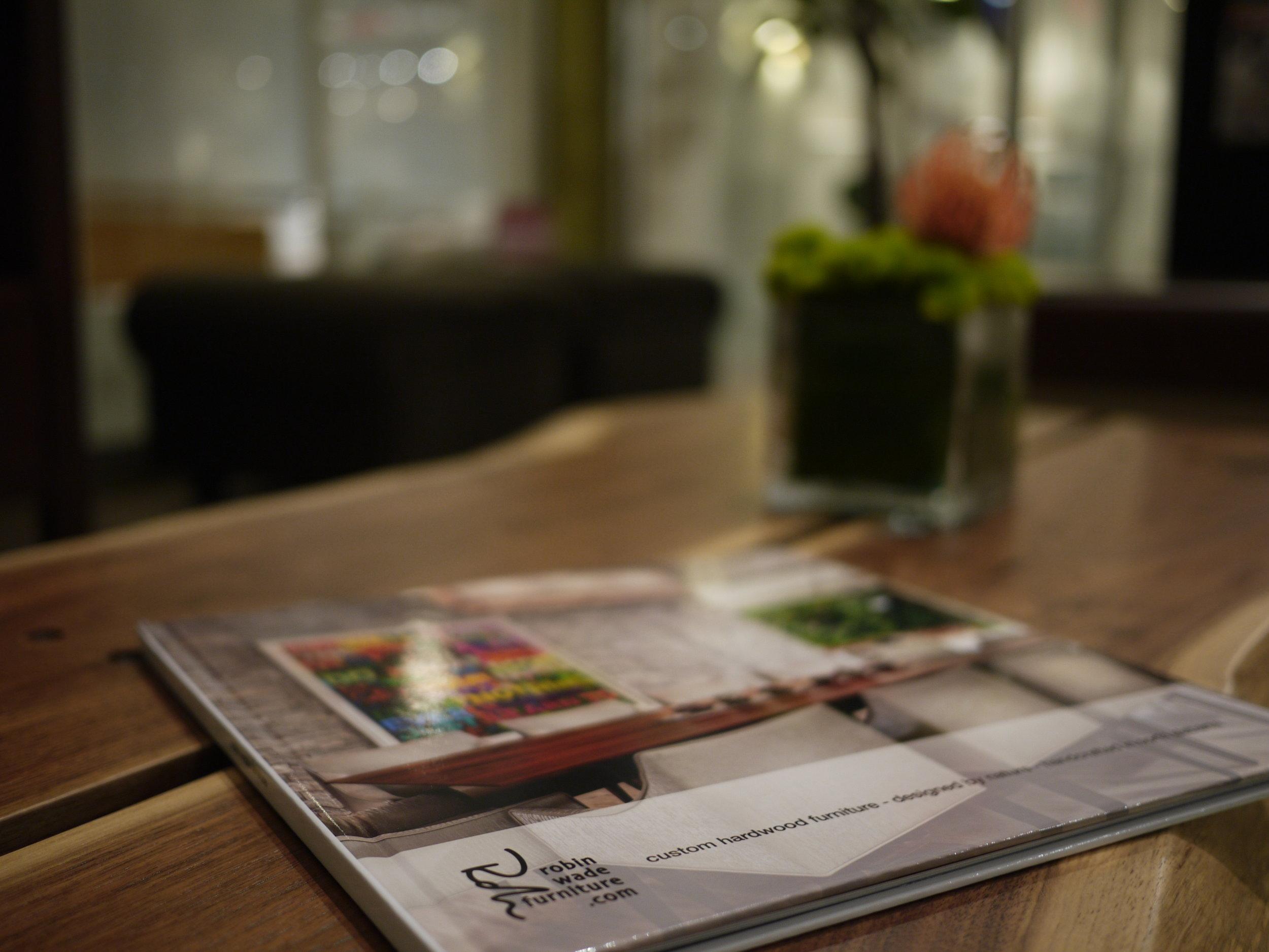 Two Slab Walnut Coffee Table — Robin Wade Furniture