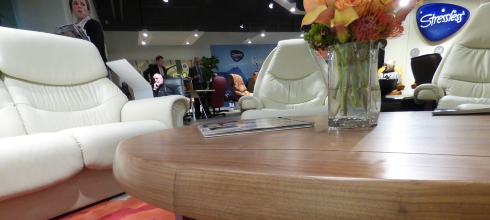 Our work is on display in the Ekornes / Stressless (Norway) showrooms High Point & Las Vegas