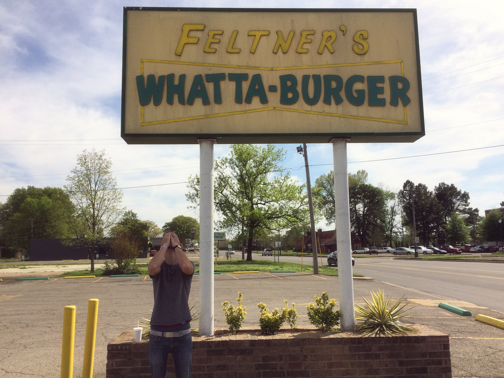 "Disappointment struck early in Arkansas; a What-A-Burger charlatan (notice the extra ""T"") broke our stride but thankfully not our spirits. We never did find a proper What-A-Burger…what a shame."