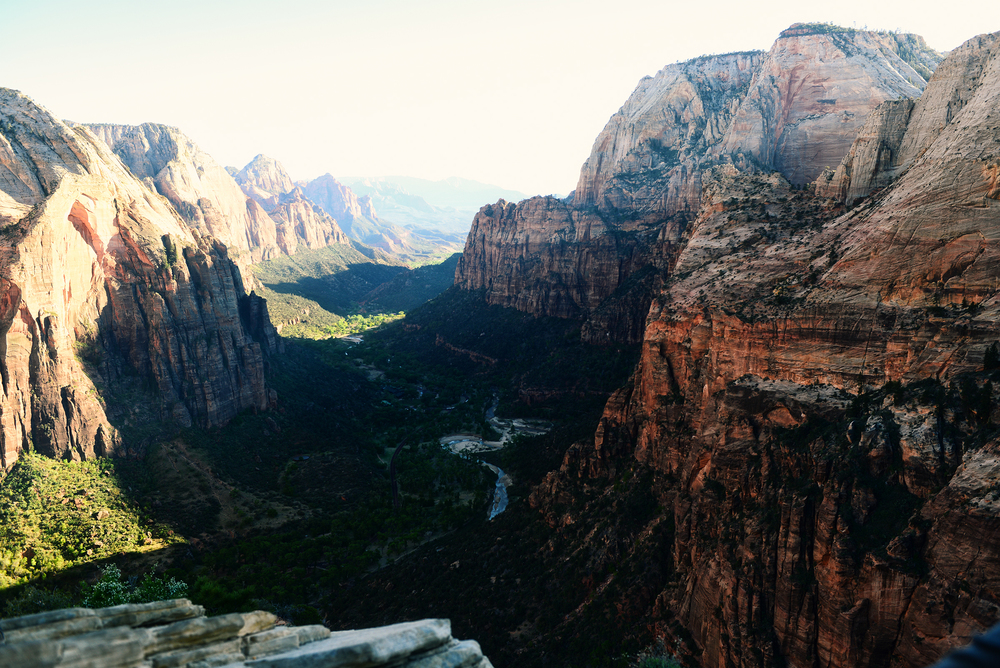 The view from Angels Landing. Heavenly.