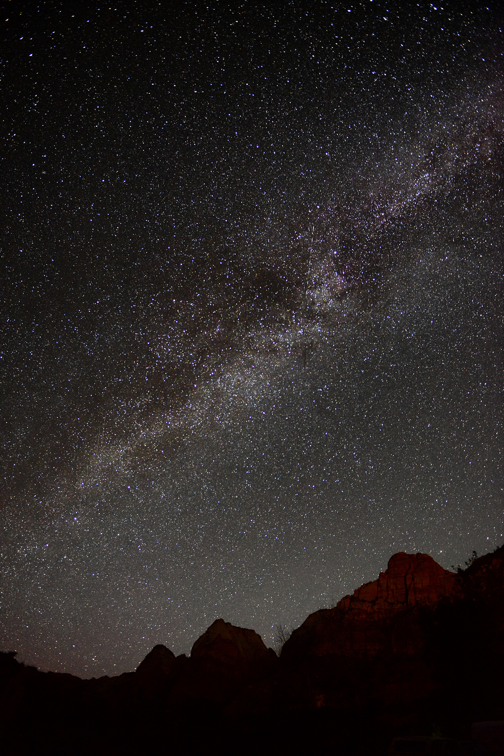 My first test shot of the Milky Way over Zion.