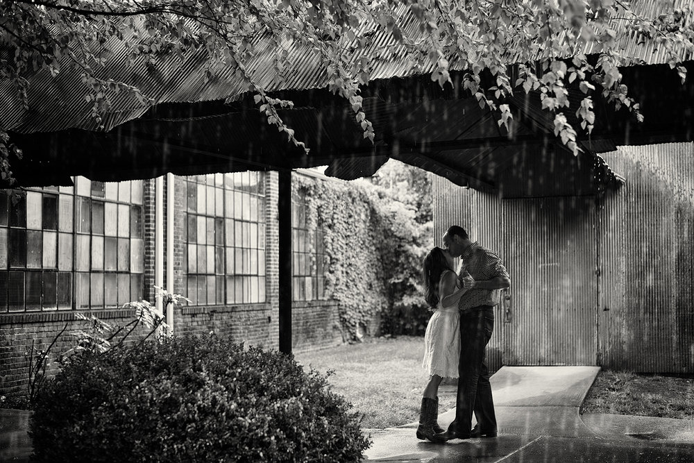 Hannah-Waylon-Downtown-Franklin-Factory-Rain-Engagement