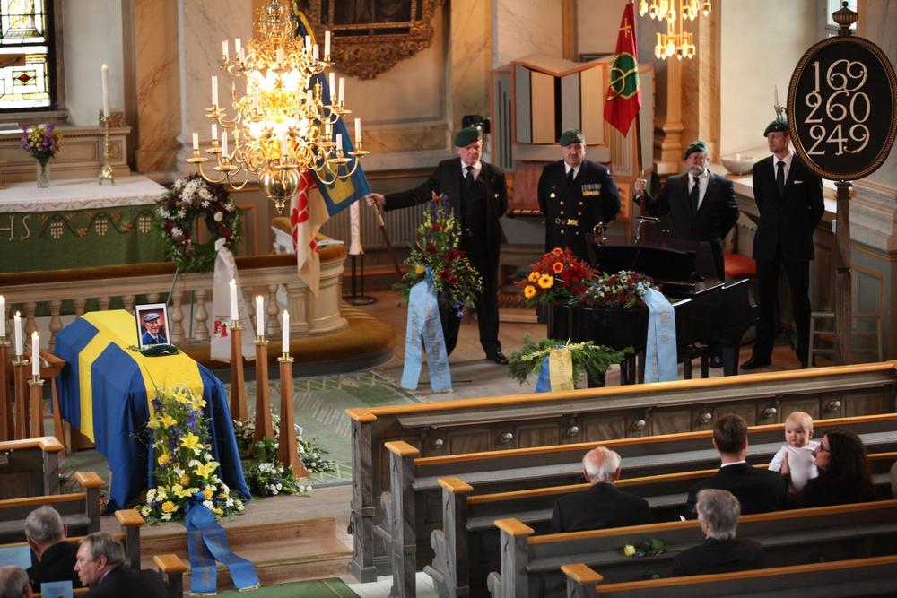 KJV:s fanvakt under Torsten Dahléns begravning