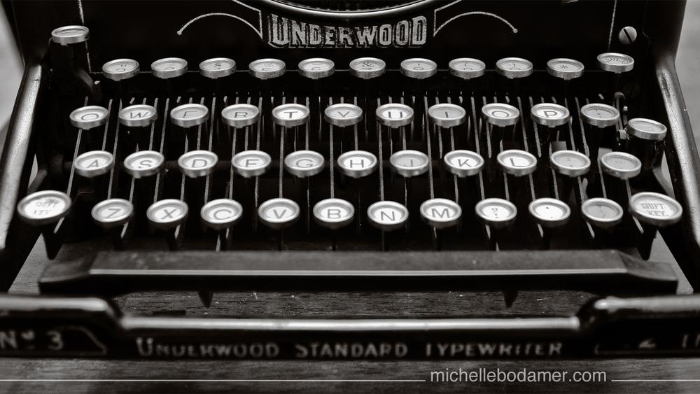 B&W Vintage Typewriter