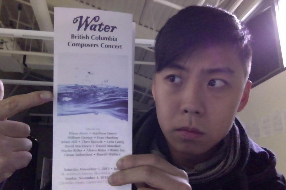 Remy has a piece being performed by the Erato Ensemble for their upcoming concert: Water.
