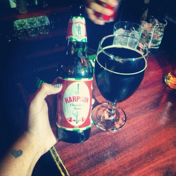 Harpoon Chocolate Stout vía @meliorti en Instagram