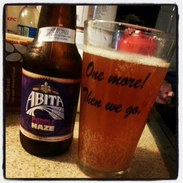 Abita Purple Haze vía @alexnationpr en Instagram