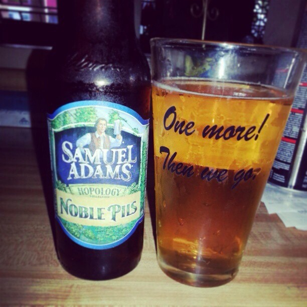 Samuel Adams Noble Pils vía @alexnationpr en Instagram