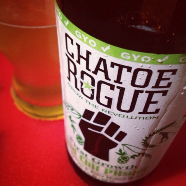 Rogue Farms Good Chit Pilsner vía @nataliaperez8 en Instagram