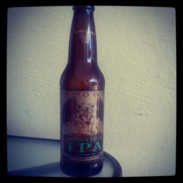 Ruination IPA de Stone Brewing vía @adejesus80 en Instagram