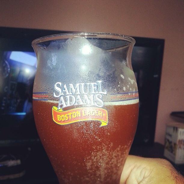 Samuel Adams Boston Lager vía @alexnationpr en Instagram
