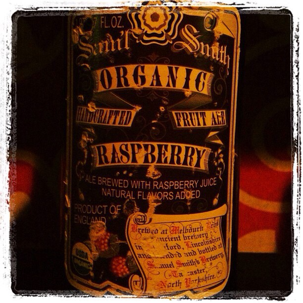 Samuel Smith's Organic Raspberry vía @msdedo en Instagram