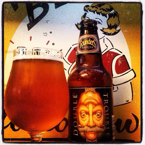 Founders Double Trouble Imperial/Double IPA vía @lynn_sr en Instagram
