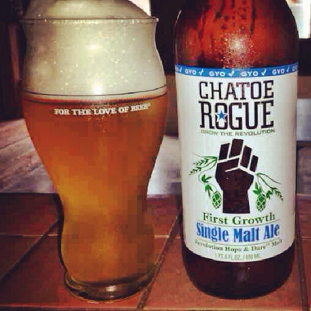 Chatoe Rogue Single Malt Ale vía @aibonitobeergarden en Instagram