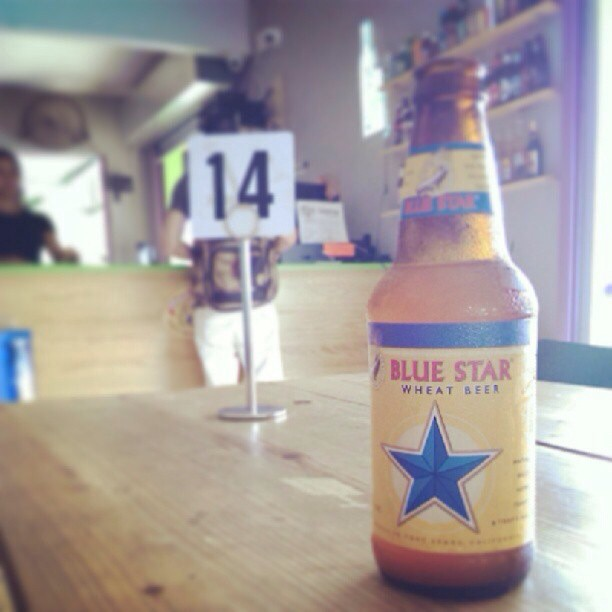Blue Star Wheat Beer via @izqrdo en Instagram