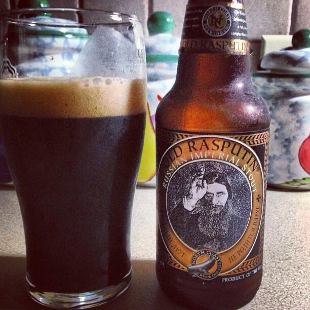 Old Rasputin Russian Imperial Stout vía @dehumanizer en Instagram