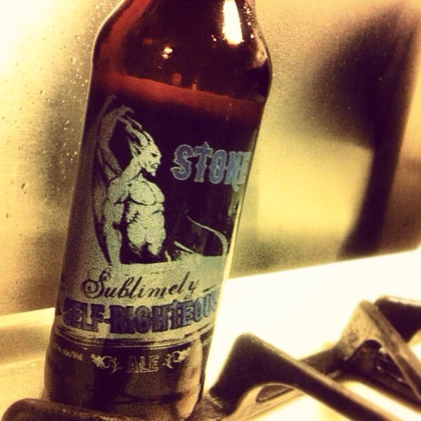 Stone Sublimely Self-Righteous Ale vía @lornajps en Instagram