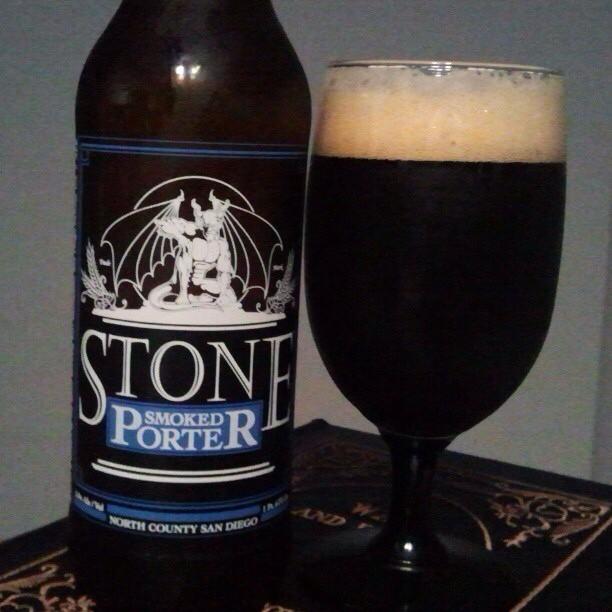 Smoked Porter de Stone vía @valdorm en Instagram