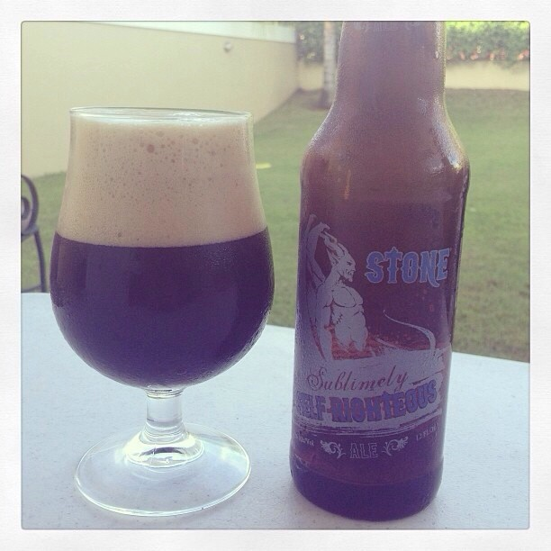 Stone Sublimely Self-righteous Ale via @ramonesbrew en Instagram