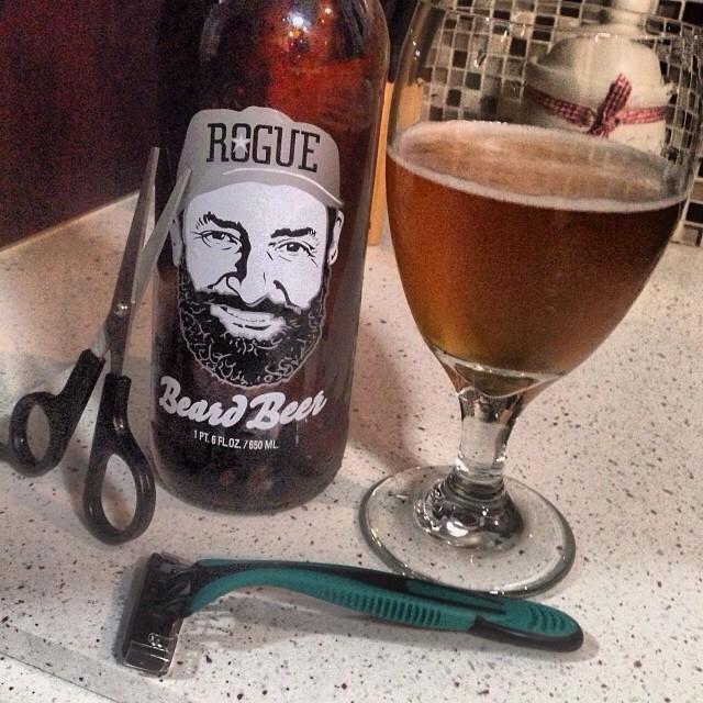 Rogue Ale Beard Beer vía @brewmaniac en Instagram