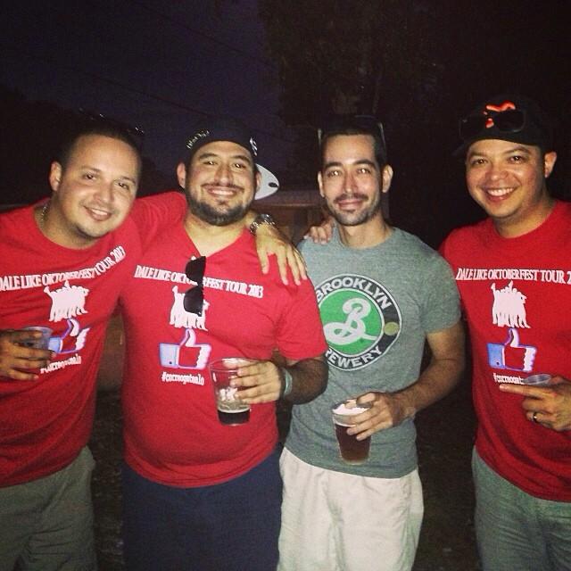 Nuestro @iTavo junto a @mannygrams86 y @brewmaniac en el Oktoberfest de Aibonito Beer Garden