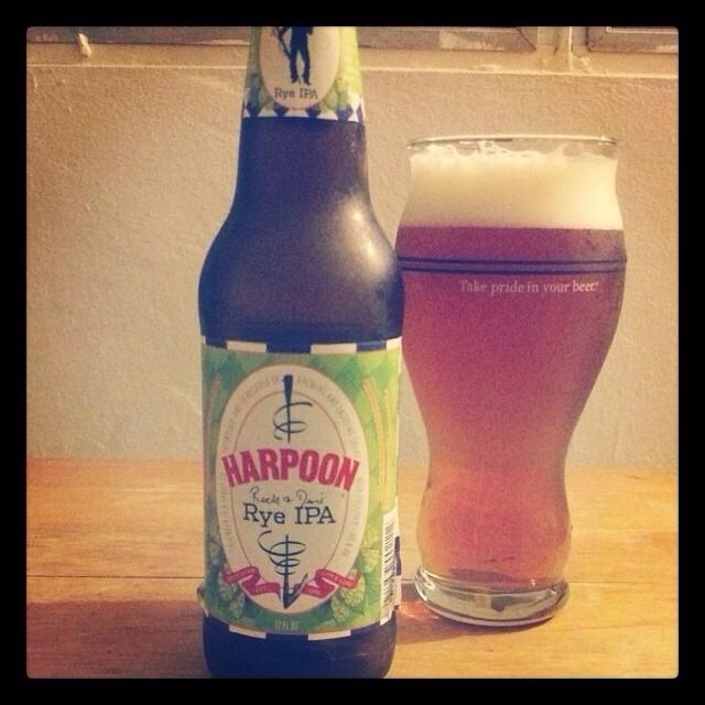 Harpoon Rye IPA vía @adejesus80 en Instagram
