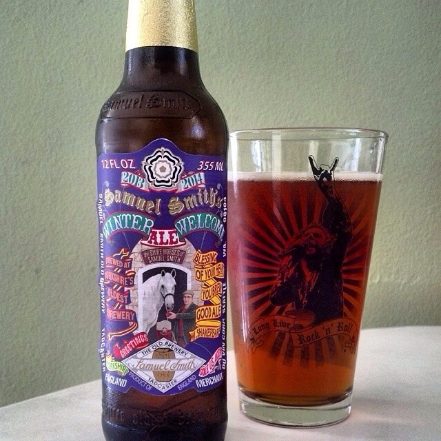 Samuel Smith Winter Welcome Ale vía @adejesus80 en Instagram