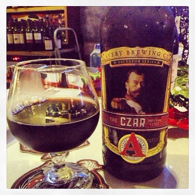Czar Imperial Stout de Avery vía @thecraftbeergal en Instagram