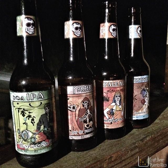 Line-up de cervezas Mexicanas degustadas